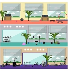 Fitness center interior Work vector image vector image