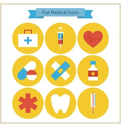 Flat Health and Medicine Icons Set vector image vector image