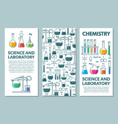 Science information cards set vector