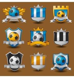 Soccer team emblems vector image vector image