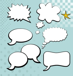 Speech bubble element vector image