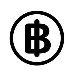 thai bath icon on white background flat style vector image