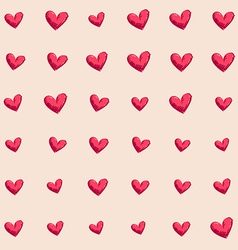 background Seamless hand drawn heart vector image vector image