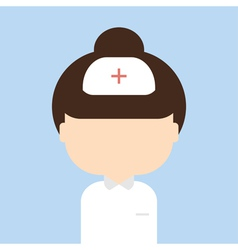 Nurse trendy flat style vector image