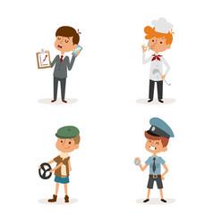 cartoon profession kids children set vector image vector image