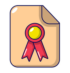 certificate icon cartoon style vector image vector image
