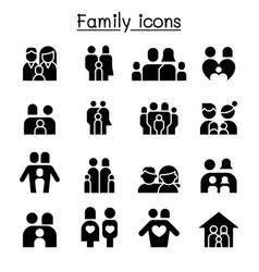 family people icon set graphic design vector image vector image