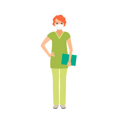 female character of osteopath vector image