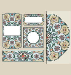 set of greeting cards or invitations with doodle vector image vector image