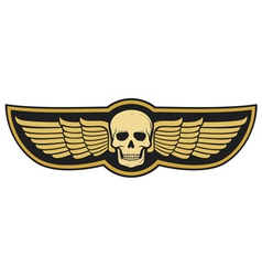 skull and wings vector image vector image