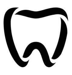 stomatology icon simple style vector image vector image