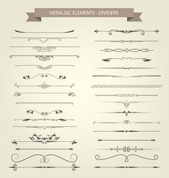 vintage book vignettes dividers and separators vector image vector image