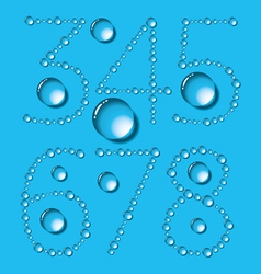 Water Drop Letters On Blue New 10 vector image