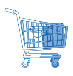 cart buying market shopping bags vector image vector image