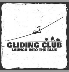 gliding club retro badge vector image