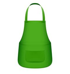 Green kitchen apron vector image