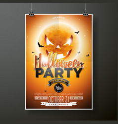 halloween party with moon on vector image vector image