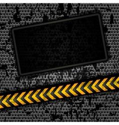 metallic grunge background vector image