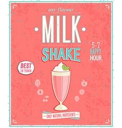 milkshake2 vector image vector image