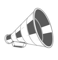 Vintage Megaphone vector image