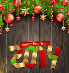 2014 New Years greeting vector image