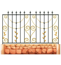 A gate made of pointed steel vector