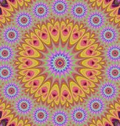 Abstract oriental star mandala fractal background vector