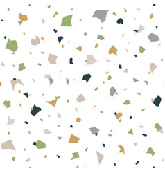 abstract seamless pattern in terrazzo style vector image