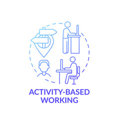 Activity-based working concept icon vector