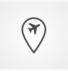airport location pin icon sign symbol vector image