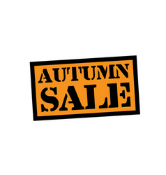 autumn sale stamp on white vector image