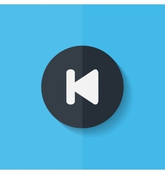 Back track web iconMedia player Flat design vector