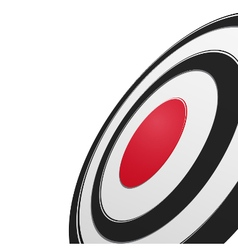 Black and red round target vector