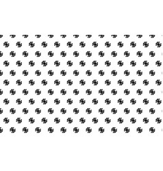 Black gear pattern on white background vector