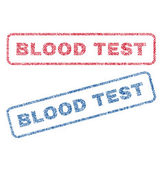 Blood test textile stamps vector