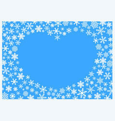 Christmas background with white snowflakes on blue vector