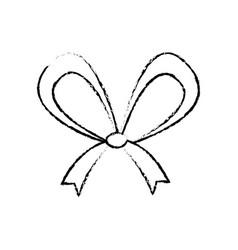 Christmas bow ribbon decoration image vector
