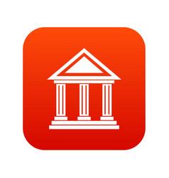colonnade icon digital red vector image