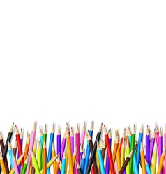 Color pencil on white background with copy space vector