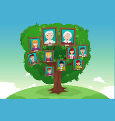 Concept of family tree vector