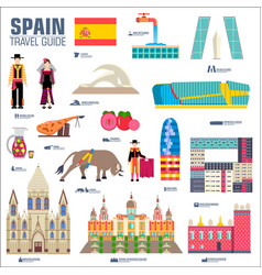 Country spain travel vacation guide of goods vector