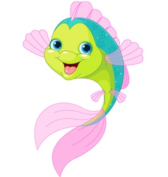 Cute cartoon fish vector
