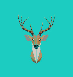 deer head abstract isolated on a green backgrounds vector image