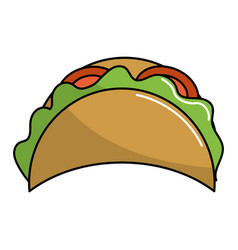 Delicious mexican tacos food vector