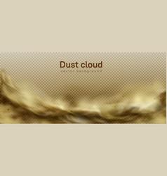 desert sandstorm brown dusty cloud on transparent vector image