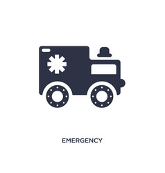 Emergency medical vehicle icon on white vector