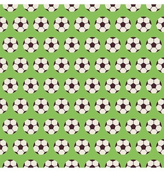 Flat Seamless Sport and Recreation Pattern Soccer vector image