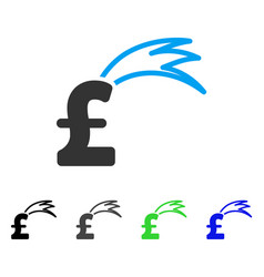 Fortune falling pound flat icon vector