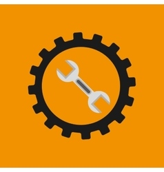 gear construction wrench tool icon desing vector image