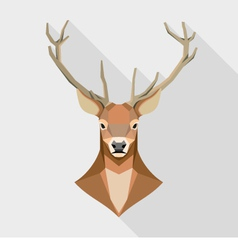 Geometric deer head vector